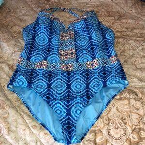 Bleu 🏝 women's swimsuit, Size 22. Worn twice!